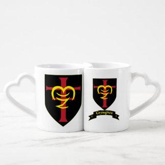 Sistema de la taza de los amantes de Notre Tazas Para Enamorados