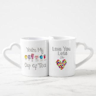 Sistema de la taza de los amantes taza para parejas