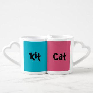 Sistema de la taza del amante del gato del equipo taza para enamorados