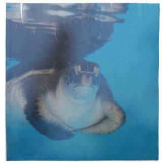 Sistema de la tortuga de mar del bebé de cuatro servilletas de papel