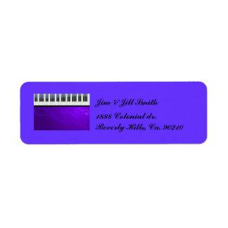 Sistema de las costuras del teclado etiqueta de remite