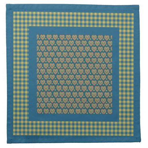 Sistema de las servilletas de tabla del paño, cora