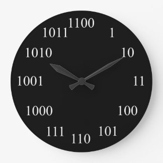 Sistema de número binario Geeky Reloj Redondo Grande