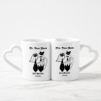 Sistema de Personalized Mug de Sr. y de señora Jus Tazas Amorosas