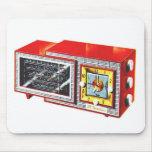Sistema de radio-reloj retro del kitsch 50s Tymati Alfombrilla De Ratones