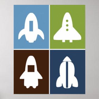 ¡Sistema de Rockets de espacio #2 de 4 posters en