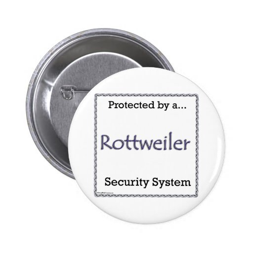 Sistema de seguridad de Rottweiler - botón Pins