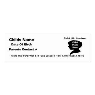 Sistema de seguridad del niño de C.L.O.S.E Tarjetas De Visita Mini
