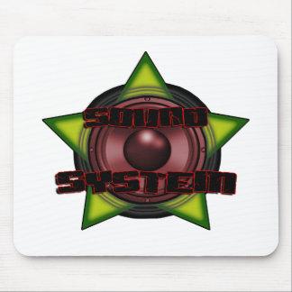 Sistema de sonido de la copia DUBSTEP DJ del regga Tapete De Raton