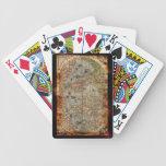 Sistema de tarjeta del mapa de Viejo Mundo del vin Baraja Cartas De Poker
