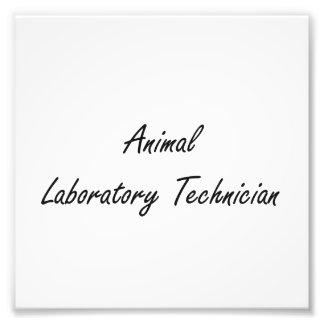 Sistema de trabajo artístico animal del técnico de impresion fotografica