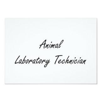 Sistema de trabajo artístico animal del técnico de invitación 12,7 x 17,8 cm