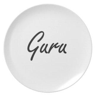 Sistema de trabajo artístico de Guru Plato Para Fiesta