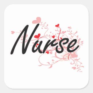 Sistema de trabajo artístico de la enfermera con pegatina cuadrada