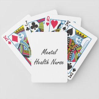 Sistema de trabajo artístico de la enfermera de barajas de cartas