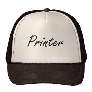 Sistema de trabajo artístico de la impresora gorra