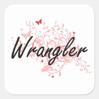 Sistema de trabajo artístico de Wrangler con las Pegatina Cuadrada
