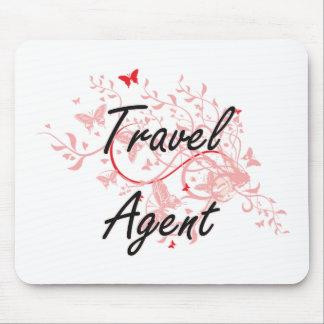 Sistema de trabajo artístico del agente de viajes alfombrilla de ratón