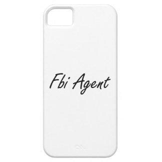Sistema de trabajo artístico del agente del FBI iPhone 5 Funda