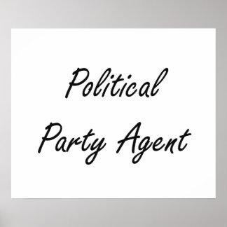 Sistema de trabajo artístico del agente del fiesta póster