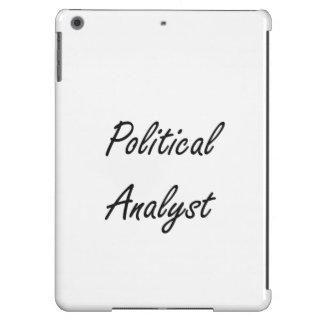 Sistema de trabajo artístico del analista político funda para iPad air