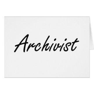 Sistema de trabajo artístico del archivista tarjeta pequeña