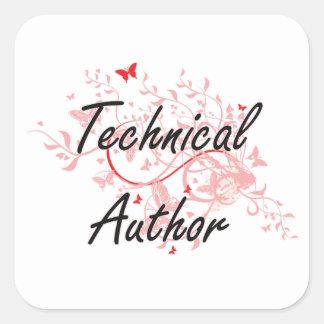 Sistema de trabajo artístico del autor técnico con pegatina cuadrada