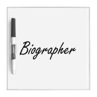 Sistema de trabajo artístico del biógrafo pizarra
