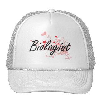 Sistema de trabajo artístico del biólogo con los gorra