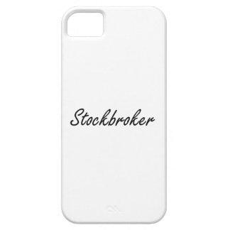 Sistema de trabajo artístico del corredor de bolsa iPhone 5 fundas