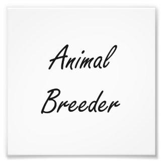 Sistema de trabajo artístico del criador animal cojinete