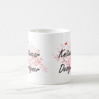 Sistema de trabajo artístico del diseñador de los taza de café