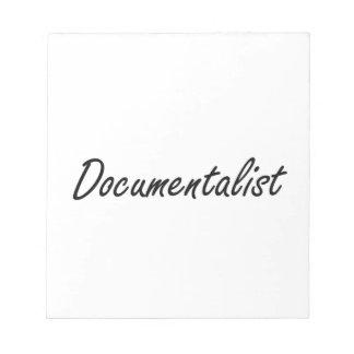 Sistema de trabajo artístico del documentalista libretas para notas