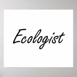 Sistema de trabajo artístico del ecologista póster
