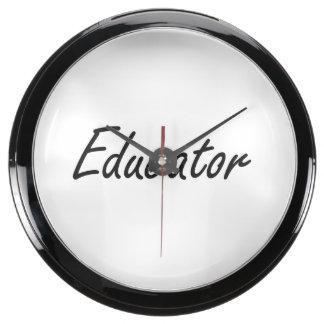 Sistema de trabajo artístico del educador relojes acuario
