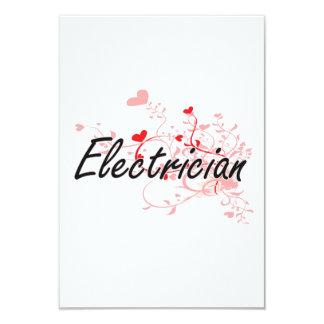 """Sistema de trabajo artístico del electricista con invitación 3.5"""" x 5"""""""