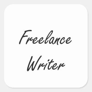 Sistema de trabajo artístico del escritor free pegatina cuadrada