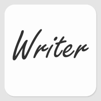 Sistema de trabajo artístico del escritor pegatina cuadrada