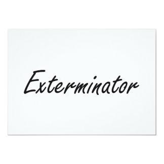 Sistema de trabajo artístico del Exterminator Invitación 12,7 X 17,8 Cm