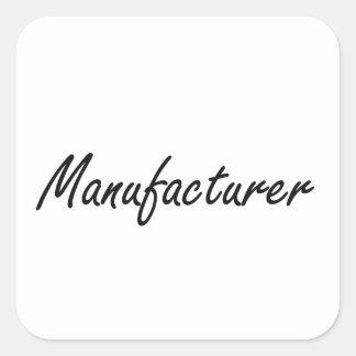 Sistema de trabajo artístico del fabricante pegatina cuadrada