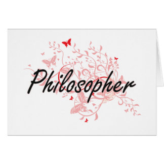 Sistema de trabajo artístico del filósofo con las tarjeta pequeña