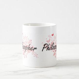 Sistema de trabajo artístico del filósofo con las taza