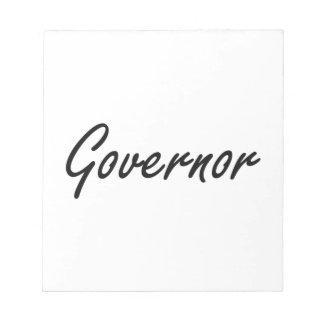 Sistema de trabajo artístico del gobernador bloc de papel