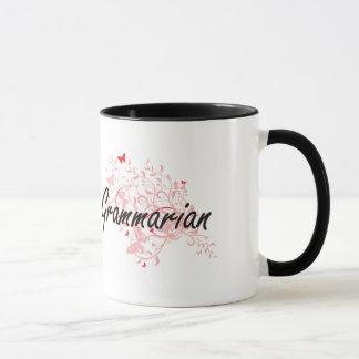 Sistema de trabajo artístico del gramático con las taza