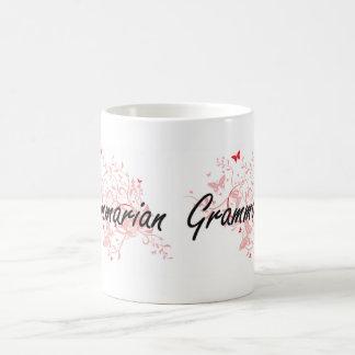 Sistema de trabajo artístico del gramático con las taza de café