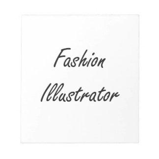 Sistema de trabajo artístico del ilustrador de la bloc de notas