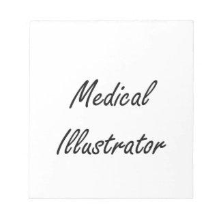 Sistema de trabajo artístico del ilustrador médico libreta para notas