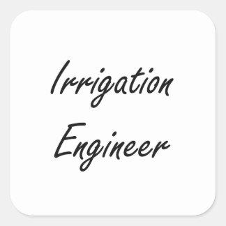 Sistema de trabajo artístico del ingeniero de la pegatina cuadrada