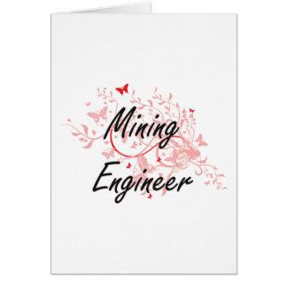 Sistema de trabajo artístico del ingeniero de tarjeta de felicitación