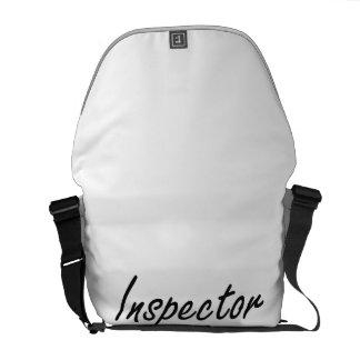 Sistema de trabajo artístico del inspector bolsas de mensajeria
